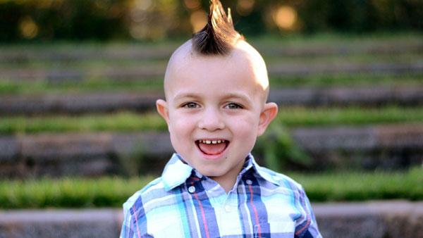 kiểu tóc vuốt cho bé trai