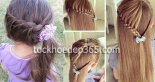 các kiểu tết tóc đẹp cho bé gái tóc dài