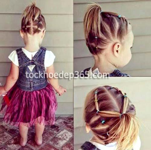kiểu tết tóc cho bé gái cực đẹp với tóc ngắn