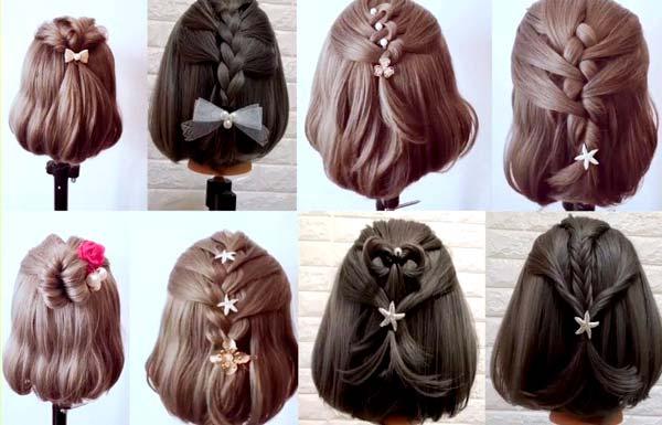các kiểu tết tóc đẹp cho bé gái tóc ngắn