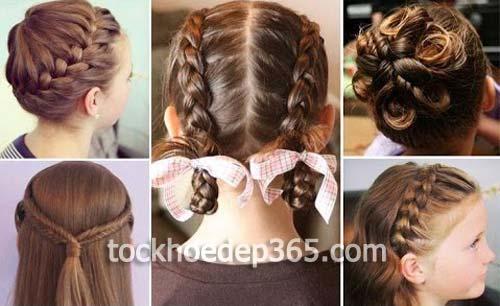 tổng hợp các kiểu tết tóc đẹp cho bé giá tóc dài