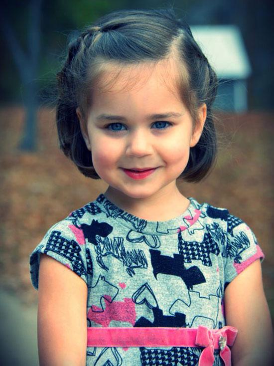 các kiểu tóc ngắn đẹp cho bé gái 2 tuổi