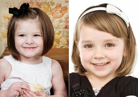 kiểu tóc ngắn búi ngộ nghĩnh cho bé gái 2 tuổi
