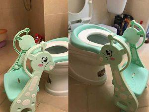 nắp bồn cầu ngồi toilet cho bé loại hươu cao cổ