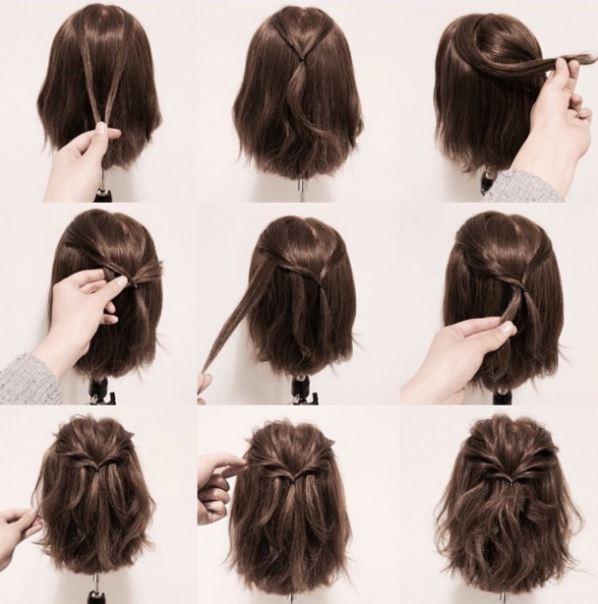 cách tạo kiểu cho tóc ngắn dự tiệc cưới