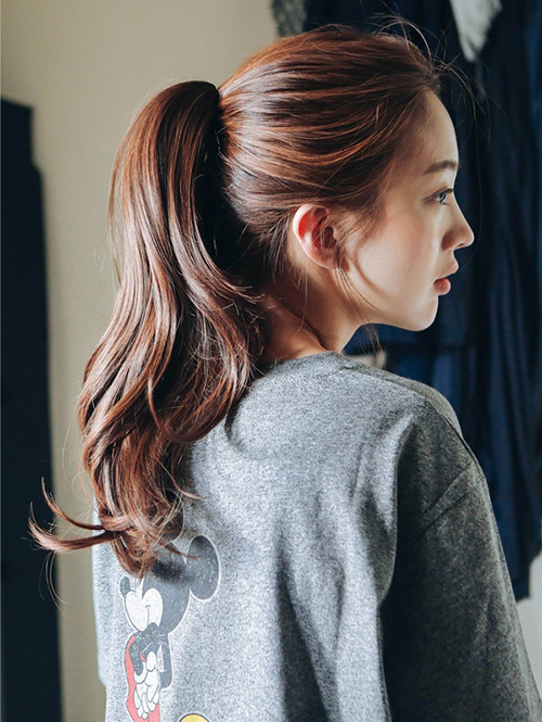 Kiểu tóc dài đẹp buộc đuôi ngựa