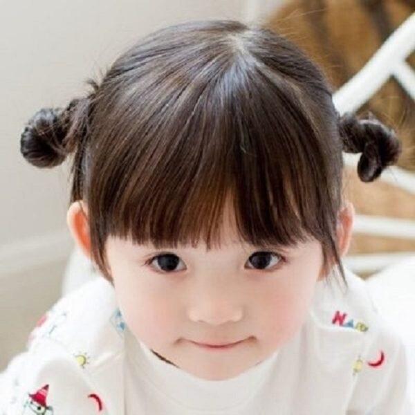 mẫu tóc đẹp cho bé gái mặt tròn