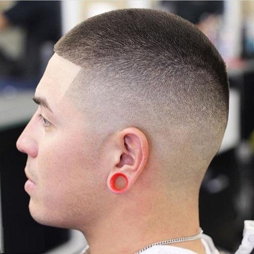 kiểu tóc đầu đinh cho nam mặt tròn