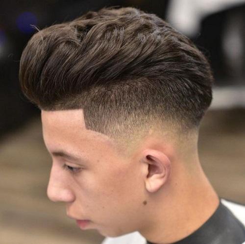 mẫu tóc layer vuốt ngược đẹp