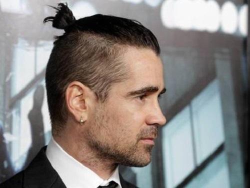 kiểu tóc manbun cho nam mặt tròn cực đẹp