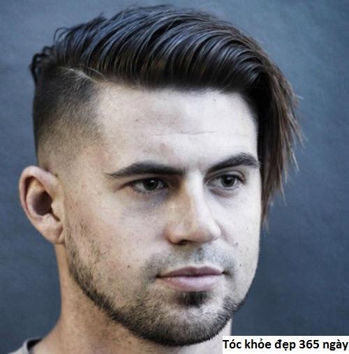 nam mặt tròn nên cắt kiểu tóc nào