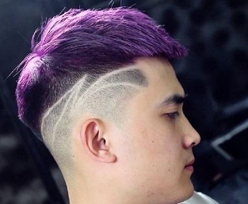 tóc đẹp cho nam mặt tròn trán cao