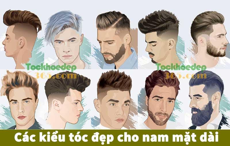 các kiểu tóc đẹp cho nam mặt dài